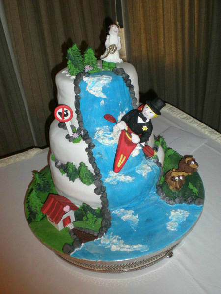 Kayak Canoe Wedding Cake