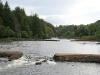 Series of weirs and shoots towards the bottom of the top section - low water