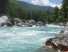 Soča River -  beginning of grade 4/5 section